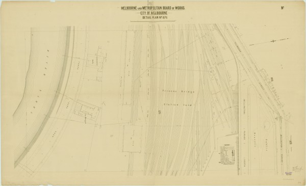 bw0503 MMBW Plan - Flinders St, Wellington Pd, Yarra River