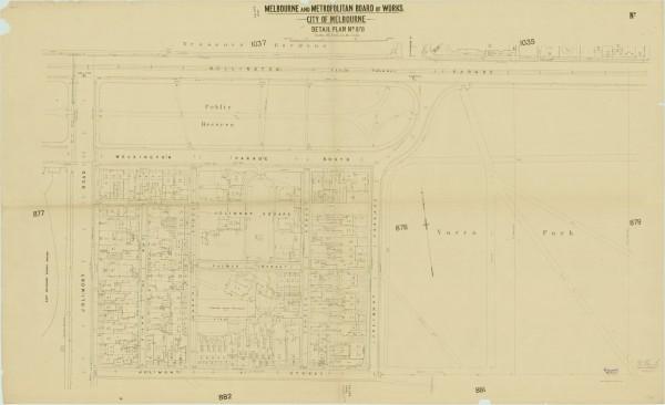bw0505 MMBW Plan - Wellington Pd, Yarra Park, Jolimont