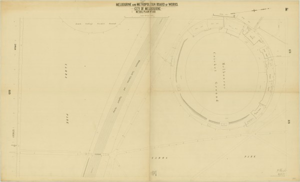 bw0508 MMBW Plan - MCG, Yarra Park, Swan St