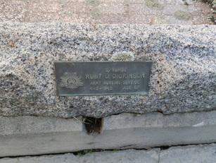 Plaque commemorating Ruby Droma Dickinson (courtesy Faithe Jones)