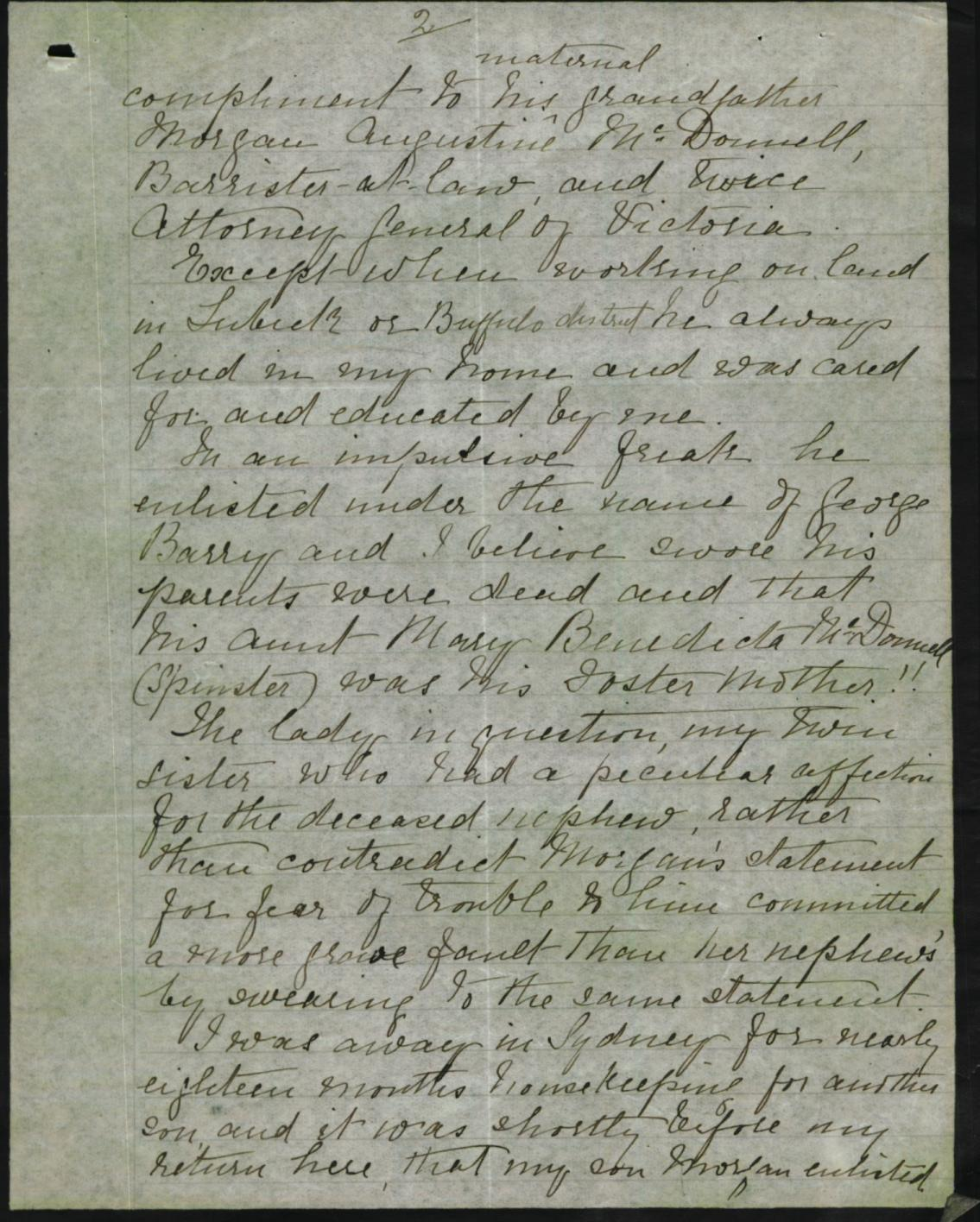 Letter from mother page 2 - 1918-09-14