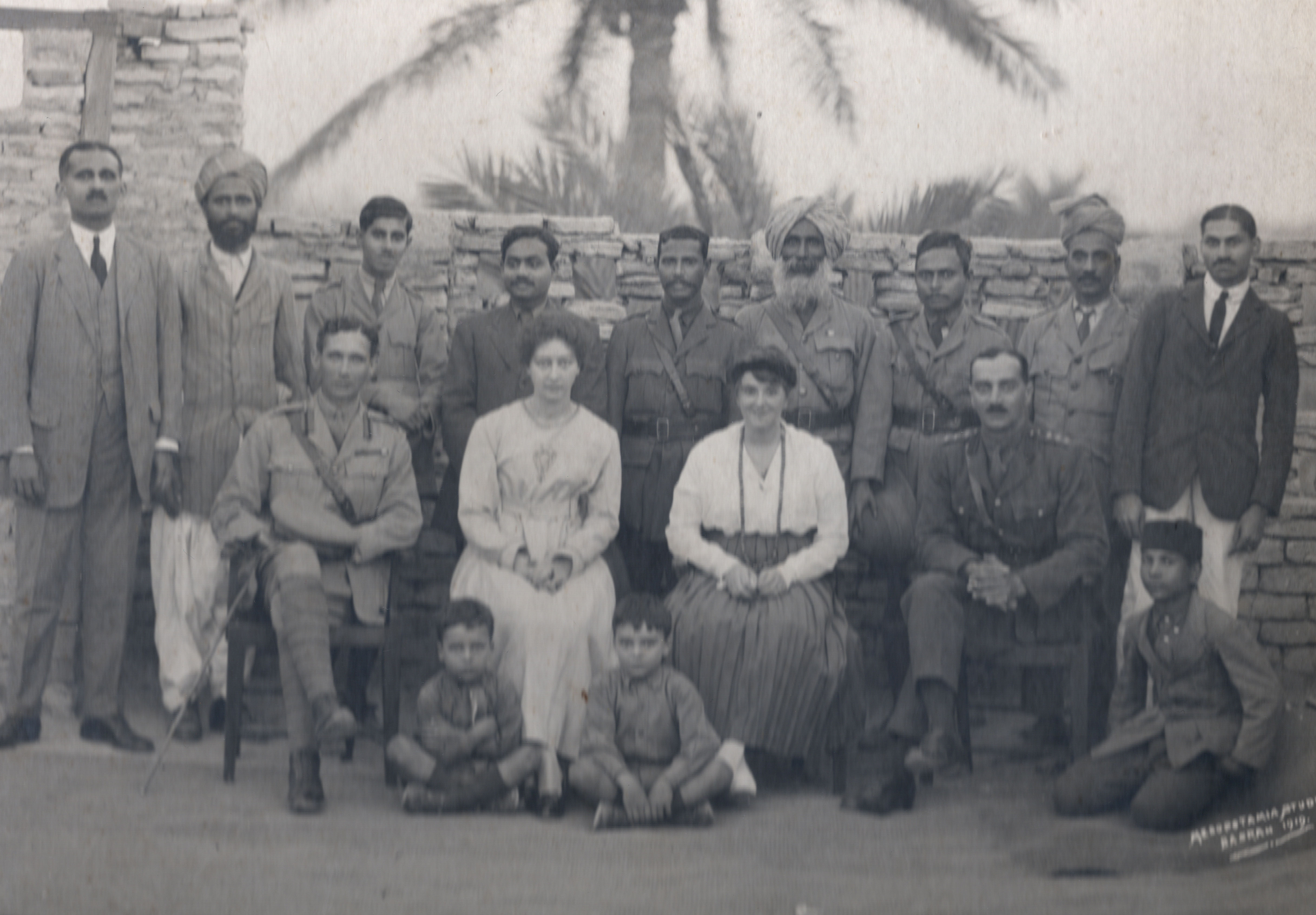 Constance (front right), John Clerici (front left) Basrah (private collection)