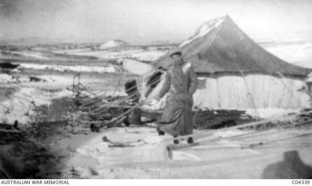 Sisters' quarters at 60 General Hospital in the vardar (AWM C04339)