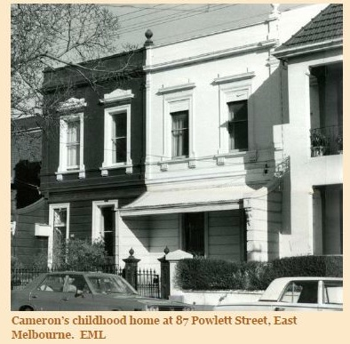 Cameron's home in East Melbourne (East Melbourne Library)