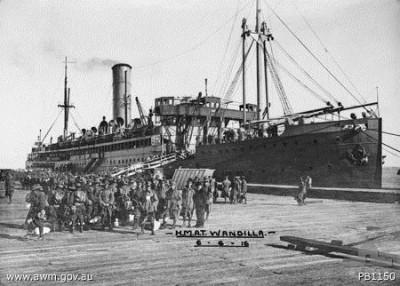 3rd Pioneer Battalion boarding the Wandilla