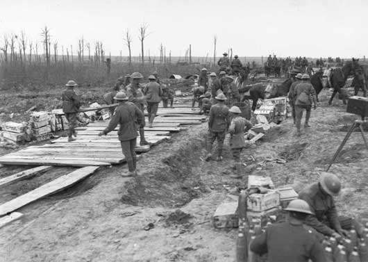 2nd Pioneer Battalion laying Duckboards 1917