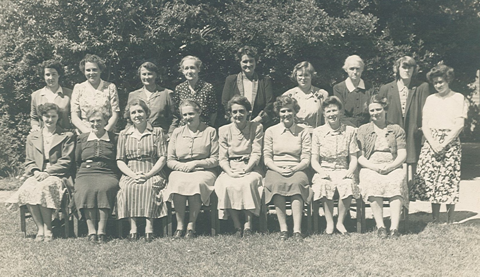 Emily Black (back 4th left) St Anne's Grammar Gippsland c1947 (St Anne's Grammar