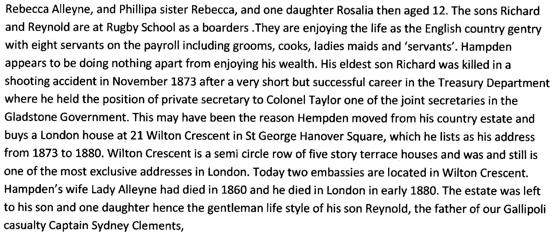 Brief history of Clement family 1780 to 1905  Part 2