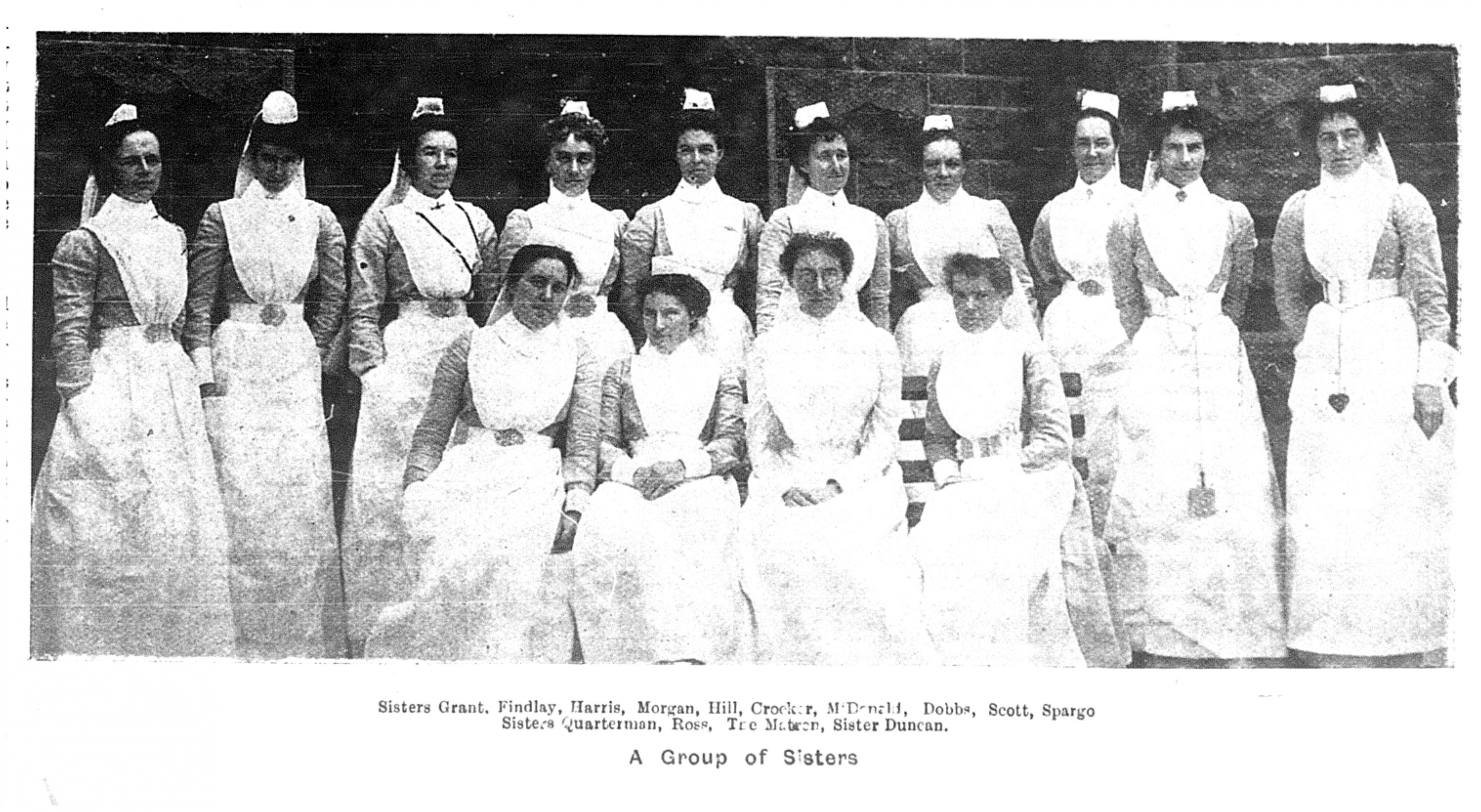 Rosa Quarterman (front left) at Melbourne Hospital (Punch 5.02.1903)