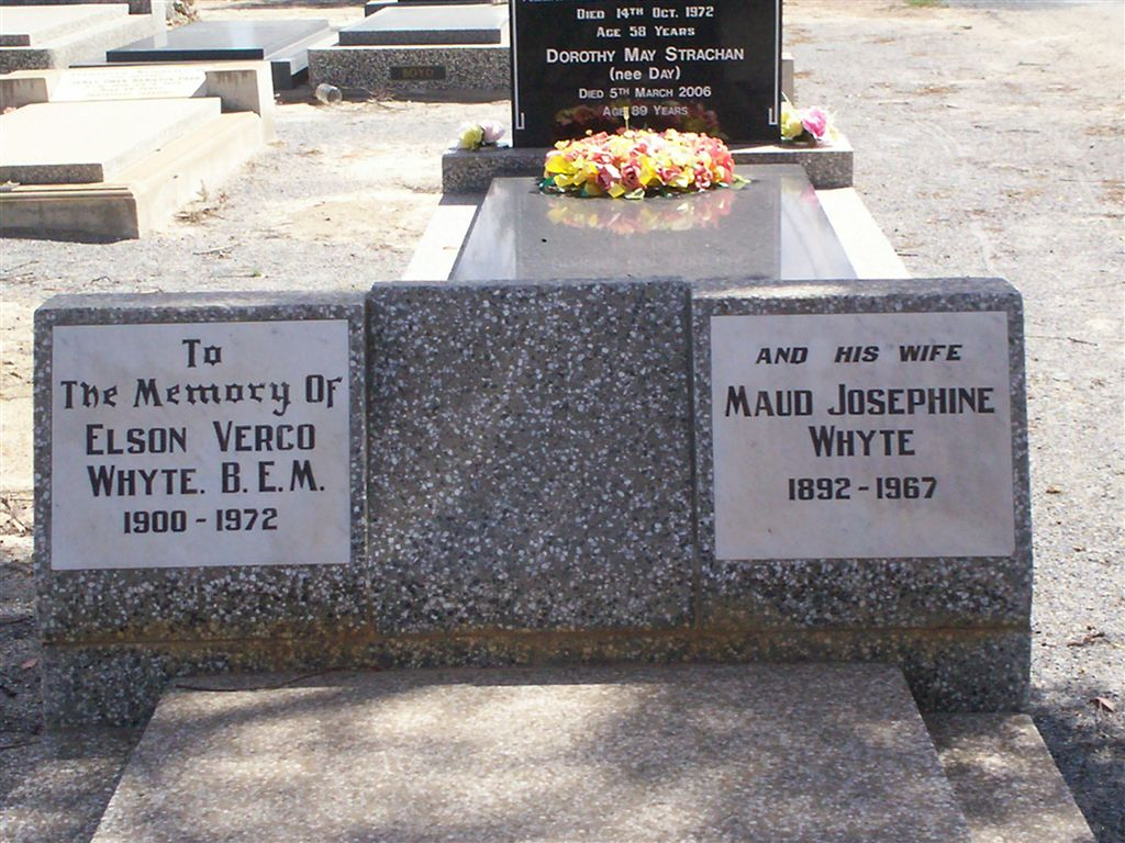 Grave of Maud Whyte (nee Frey), Wentworth Cemetery NSW