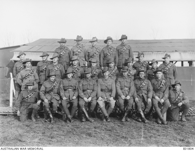 4th Mob Vet Sect,11 Mar 1918. Vanderzee in middle row, third from left