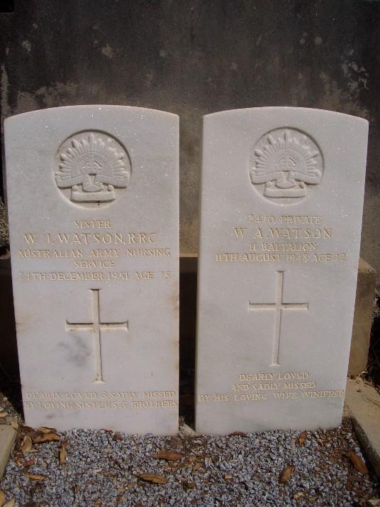 Grave of Winifred Watson nee Smith) and husband William Abbott Watson
